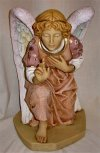 Angel-Pink Kneeling Statue By Fontanini 27