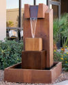Hiearchy Cast Stone Contemporary Fountain