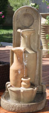 Three Carafe Wall Fountain