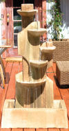 Moon Wall Water Fountain Five Tiered Garden Decor
