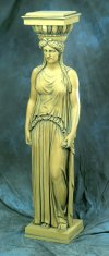 Greek Woman Caryatid Life-Size Statue 72