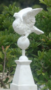 Dove Pedestal Finial Sculptural