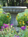 Fluted Bird Bath with Pedestal