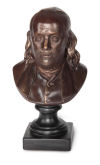 Benjamin Franklin Bust By Houdon Sculpture