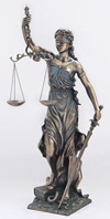 Blind Lady Justice Statue 29.5