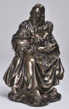 Jesus and Children Figurine Bronze Finish Religious Sculpture