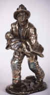 Fireman Rescuing Child Sculpture