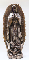Our Lady Of Guadalupe Sculpture Finished in Bronze Patina