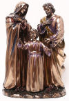 Holy Family Sculpture Bronze Color