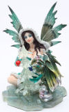 Fairy with Green Dragon Statue