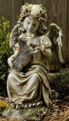 Angel With Kitten Sculpture