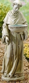 Saint Francis Bird Bath Solar Light Statue