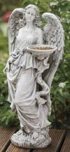 Angel With Basket Feeder Sculpture