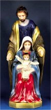 Holy Family Colored Garden Statue 24