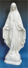 Our Lady Of Grace White Statue 24