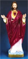 Blessing Sacred Heart Color Statue 24