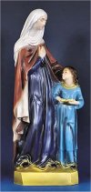 Saint Anne & Child Statue Colored 24