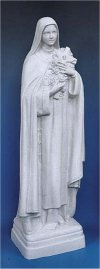 Saint Therese Statue Faux Granite 24
