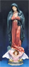 Our Lady Of Guadalupe Color Statue 24