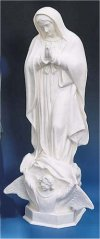 Our Lady Of Guadalupe Garden Statue White 24
