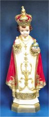 Infant Of Prague Colored Statue 24