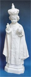 Infant Of Prague Statue White 24