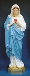 Immaculate Heart Of Mary Statue Colored 24