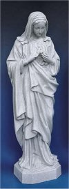 Immaculate Heart Of Mary Statue Granite 24