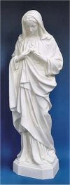 Immaculate Heart Of Mary Sculpture White 24