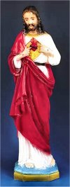 Sacred Heart Of Jesus Statue Colored 24