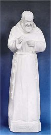Padre Pio Garden Sculpture White 24