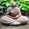 Western Buddha Large Sculpture By Sigrid Herr