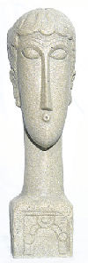 Abstract Female Head By Modigliani