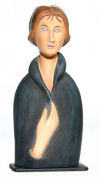 Blue Eyed Woman Bust Sculpture By Modigliani