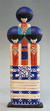 Three Ladies From Secession Exhibit Poster Sculpture by Moser