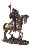 Mandan Indian Chief Sculpture on Horse