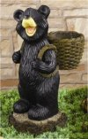 Bear Planter Garden Decor Sculpture
