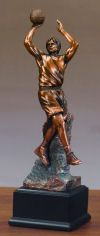Basketball Player Sculpture Shooting Bal