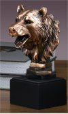 Bear Head Sculpture Portrait Bust
