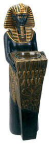 Pharaoh Votive Candle holder Sculpture