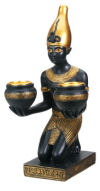 Pharaoh Candle Holder Sculpture
