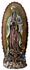 Our Lady Of Guadalupe Sculpture Bronze Patina