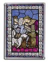 The Kiss by Dante Gabriel Rosetti Stain Glass Art Piece