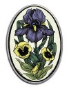 Iris And Pansies Stained Glass Artwork