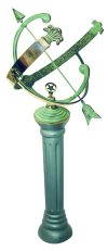 Brass Armillary Sundial with cast Iron Base Set
