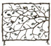 Bird & Branch Decorative Fire Place Screen with Candles