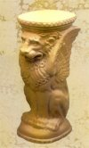 Griffin Winged Lion Pedestal