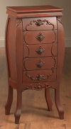 Tall End Table With Five Drawers