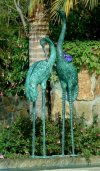 Crane Pair Extra Large Water Feature Bronze Sculptures