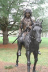 Indian Chief Riding Horse Bronze Garden Statue